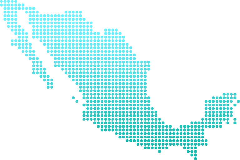 Mexico shipping map