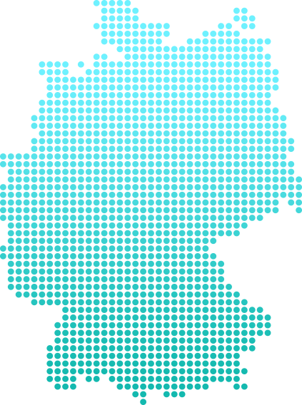 A shipping map of Germany