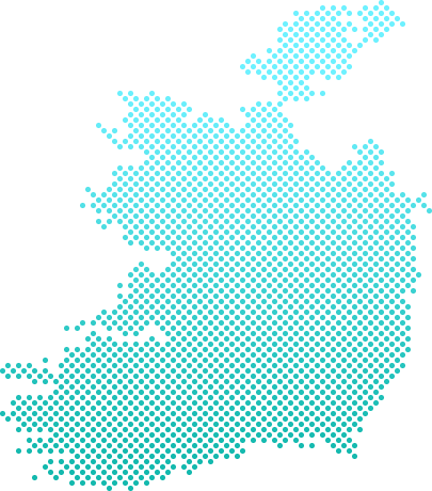 A shipping map of Ireland, including main shipping destinations